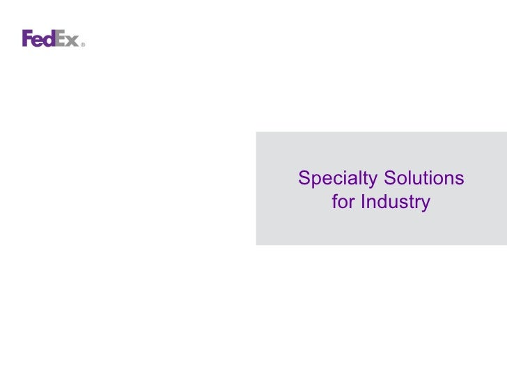 Specialty Solutions for Industry