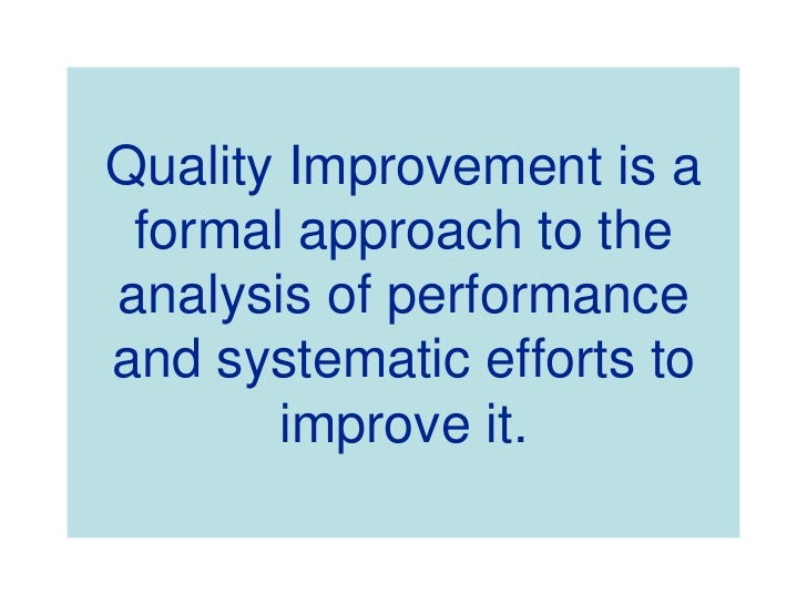 quality improvement in healthcare pdf