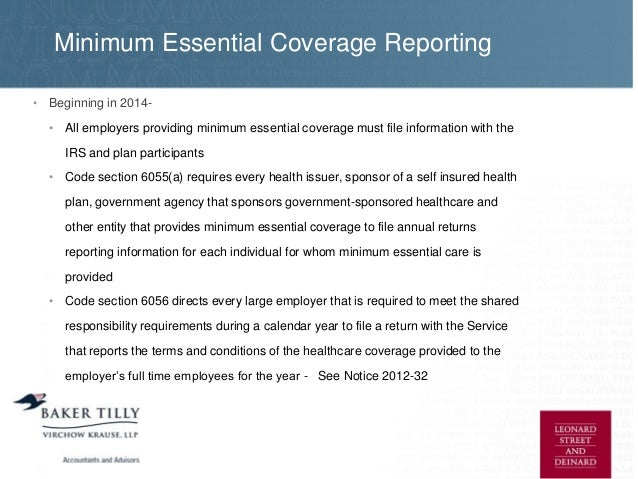 Implementing health care in 2014 guide for employers under 50 - Minimum essential coverage plan design ...