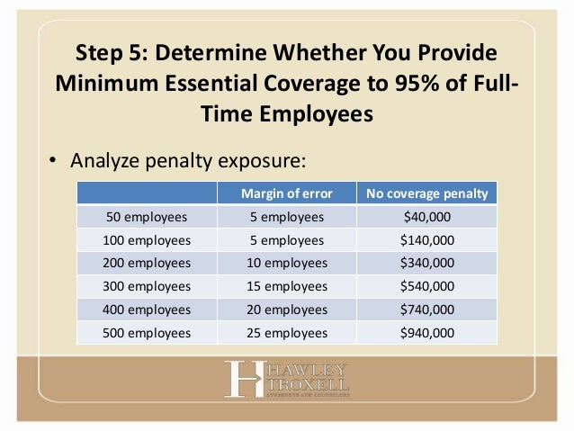 Health care reform shared responsibility presentation - Minimum essential coverage plan design ...