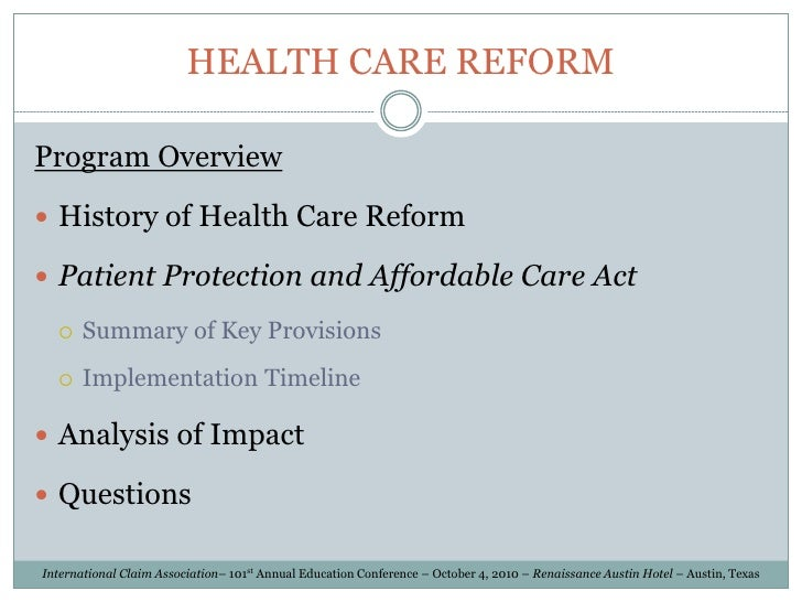 Compare Proposals to Replace The Affordable Care Act | The ...
