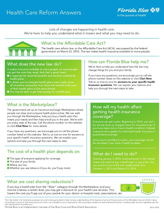Health Care Reform Answers Lots of changes are happening in health care. We're here to help you understand what it means a...