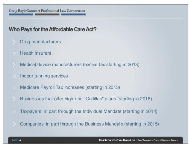Health Care Reform Goes Live: Day Three in the Current ...