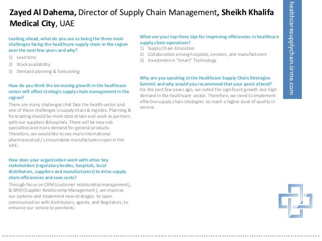 Healthcare Supply Chain Strategies Report