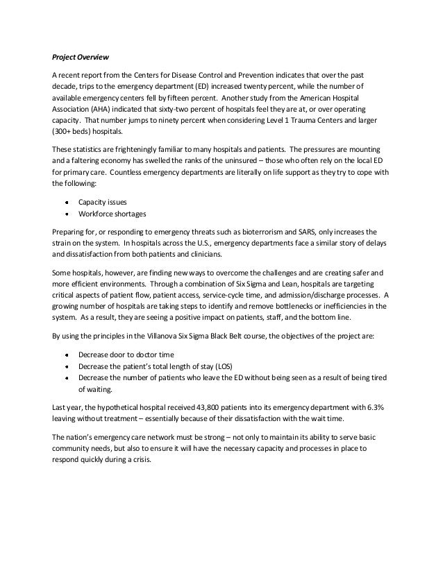 emergency department bottleneck proposal Research proposal universal triage system in emergency and 90,000+ more a survey of emergency department triage making it difficult to avoid bottlenecks in.