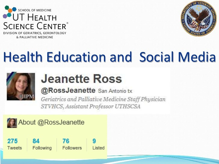 Health Education and  Social Media<br />