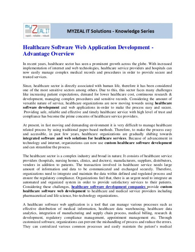 Healthcare Software Web Application Development -Advantage OverviewIn recent years, healthcare sector has seen a prominent...