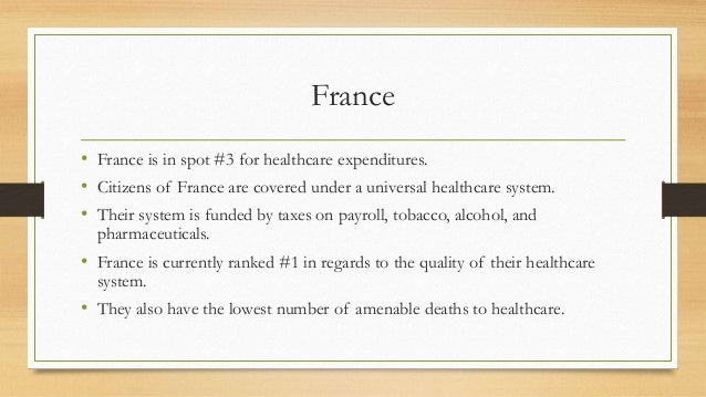 France vs the united states healthcare system