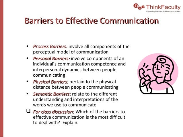 demonstrate ways to overcome barriers to communication