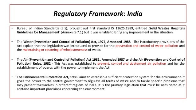 Regulatory environment of india