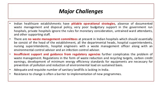 Healthcare Waste Trail In India