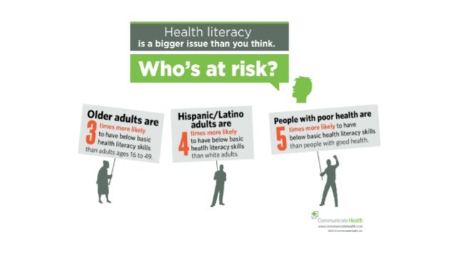 We know people struggle with forms In one of the largest studies conducted on health literacy, researchers using patients ...