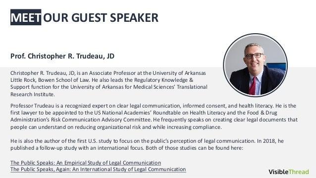 MEET Christopher R. Trudeau, JD, is an Associate Professor at the University of Arkansas Little Rock, Bowen School of Law....