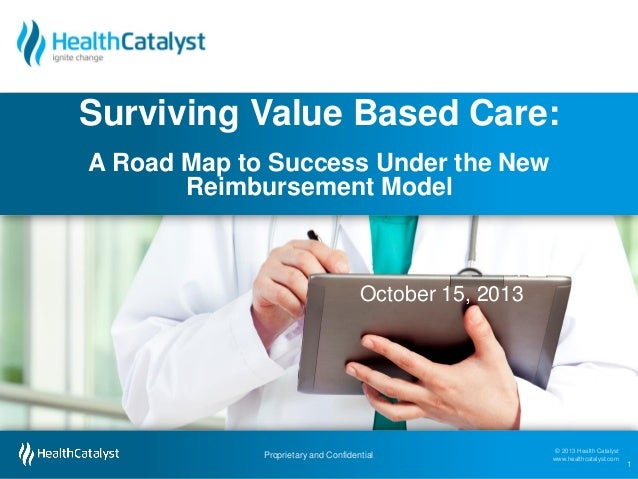 Surviving Value Based Care: A Road Map to Success Under the New Reimbursement Model  October 15, 2013  Proprietary and Con...