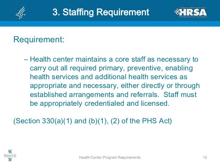 Health Center Program Requirements