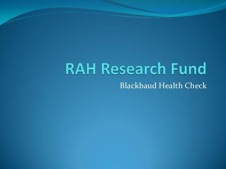 Blackbaud Health Check