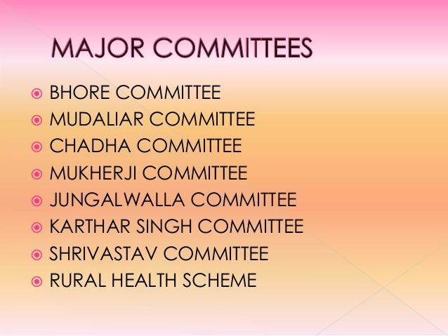 DIFFERENT COMMITTEES IN INDIA PDF DOWNLOAD