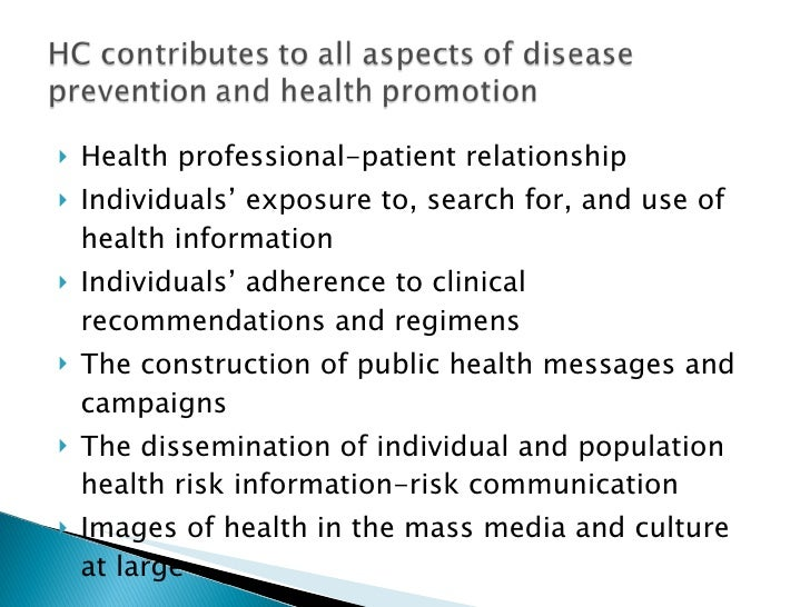 <ul><li>Health professional-patient relationship </li></ul><ul><li>Individuals' exposure to, search for, and use of health...