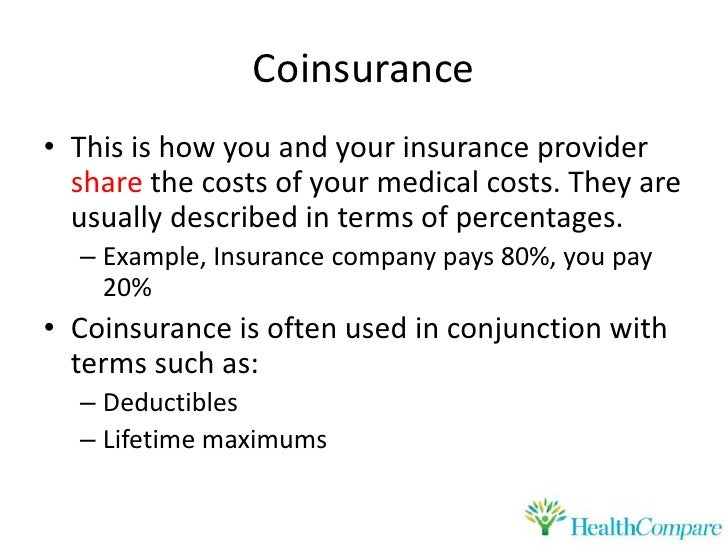HealthCompare Understanding Copay, Coinsurance, Deductibles