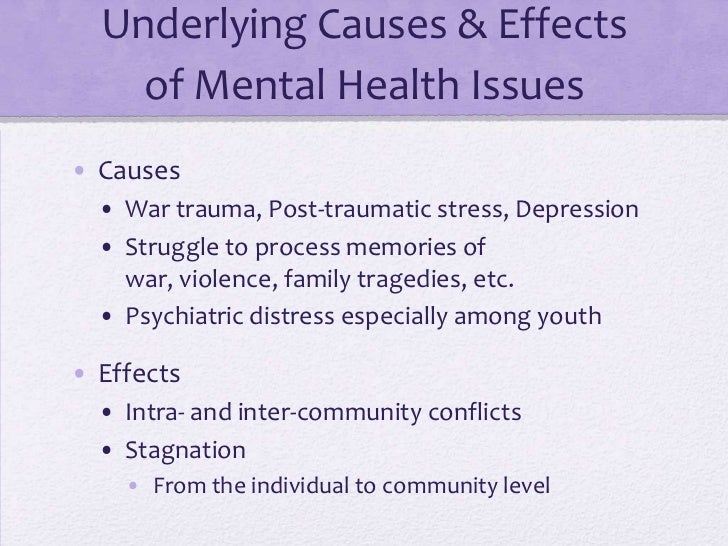 health concerns in refugee camps group one presentation  13 underlying causes effects of mental health