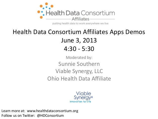 Moderated by:Sunnie SouthernViable Synergy, LLCOhio Health Data AffiliateLearn more at: www.healthdataconsortium.orgFollow...