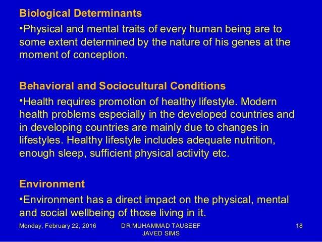 Health determinants and indicators