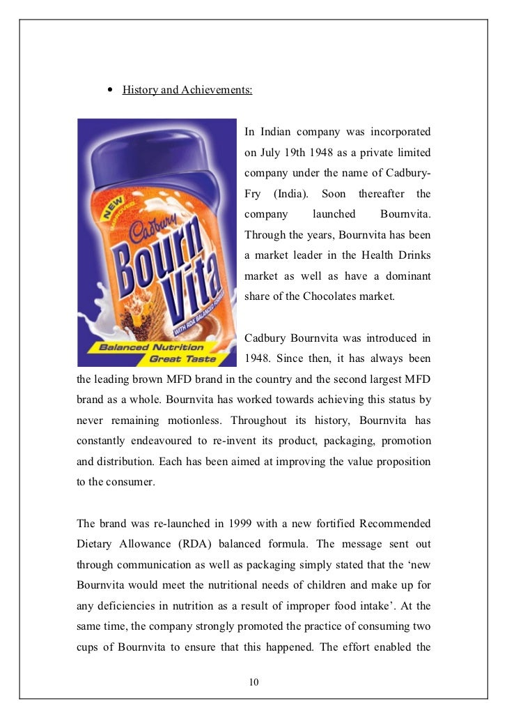 marketing report of horlicks Horlicks is a nourishing malt based beverage that helps support your child's growth.