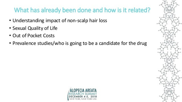 What has already been done and how is it related? • Understanding impact of non-scalp hair loss • Sexual Quality of Life •...