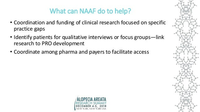 What can NAAF do to help? • Coordination and funding of clinical research focused on specific practice gaps • Identify pat...