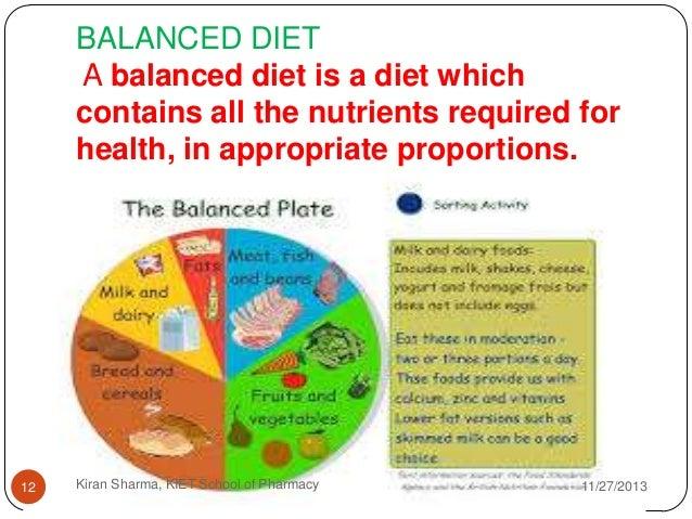Why eat a balanced diet?