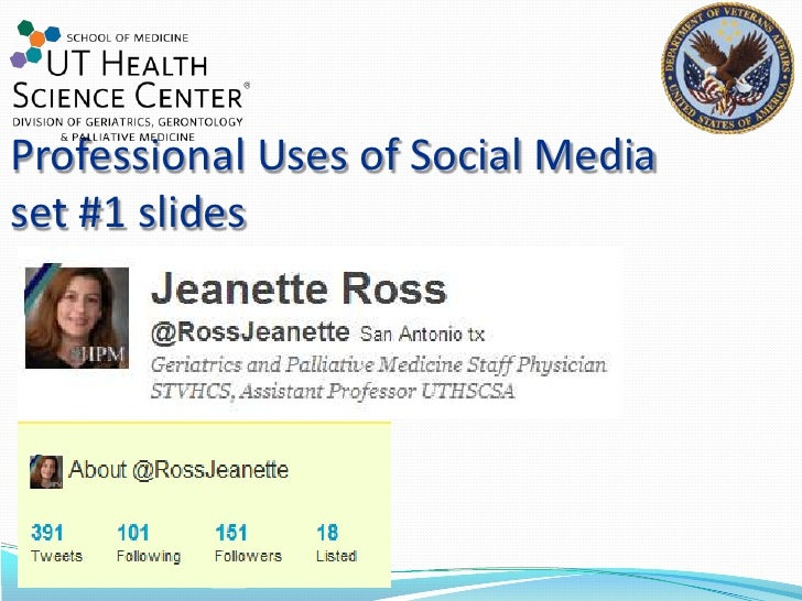 Professional Uses of Social Mediaset #1 slides