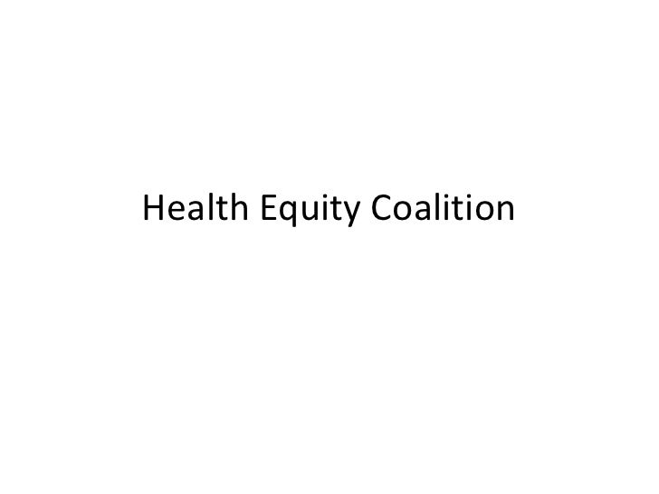 Health Equity Coalition<br />