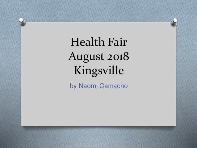 Health Fair August 2018 Kingsville by Naomi Camacho