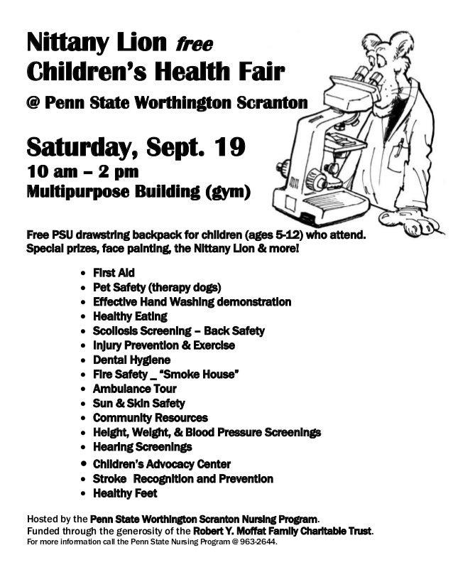 Health fair basic flyer 2015