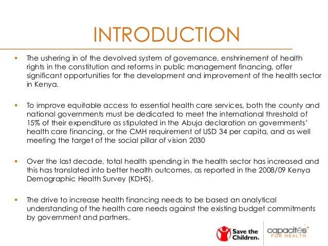 Health Financing in Kenya - The case of Wajir, Mandera, Turkana, Meru and Bungoma Counties. Slide 3