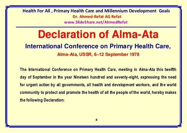 alma ata declaration Nzppd was established in 1998 in response to the 1994 international  conference on population and development (icpd) and its programme of action  (poa.