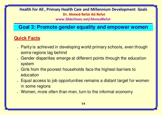 barriers to and opportunities for gender equality in primary education