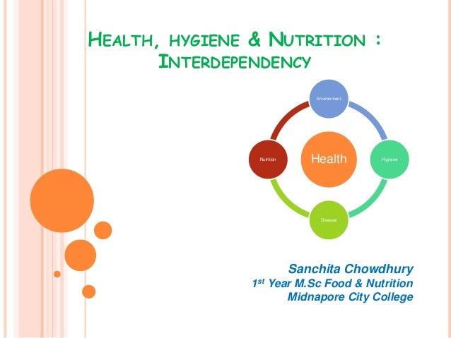 HEALTH, HYGIENE & NUTRITION : INTERDEPENDENCY Sanchita Chowdhury 1st Year M.Sc Food & Nutrition Midnapore City College Hea...