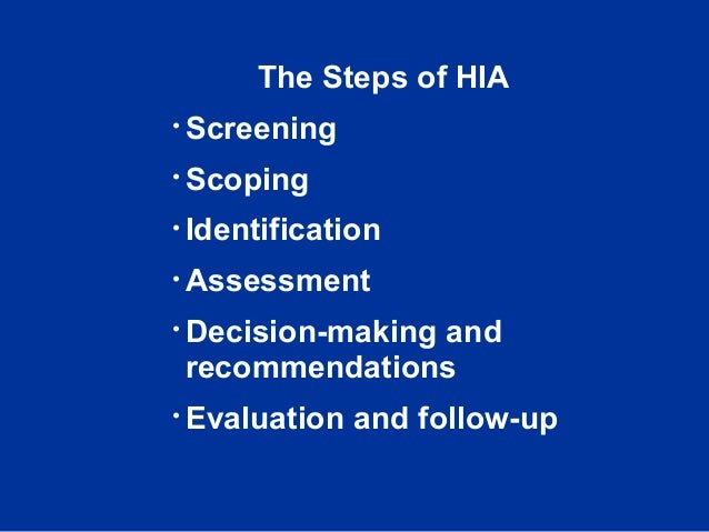 health risk assessment scoping guidelines