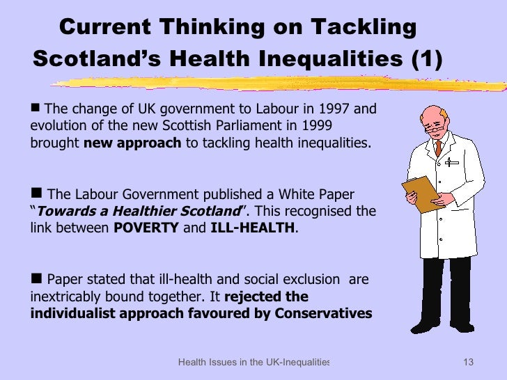 inequalities in health Inequalities in health has 8 ratings and 1 review about the 1999 edition - isbn 10: 1861341741the acheson inquiry was the most important government-ba.