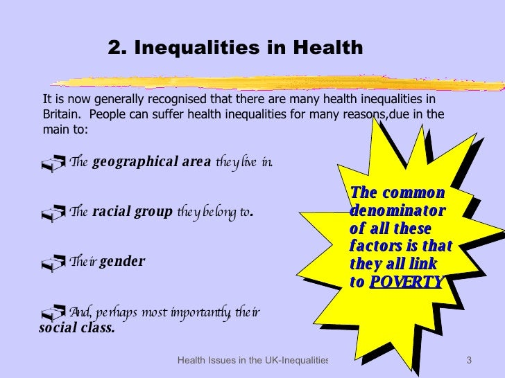health essays class health inequalities Phe is launching a national conversation about health inequalities to better understand the english public's perception and experience.