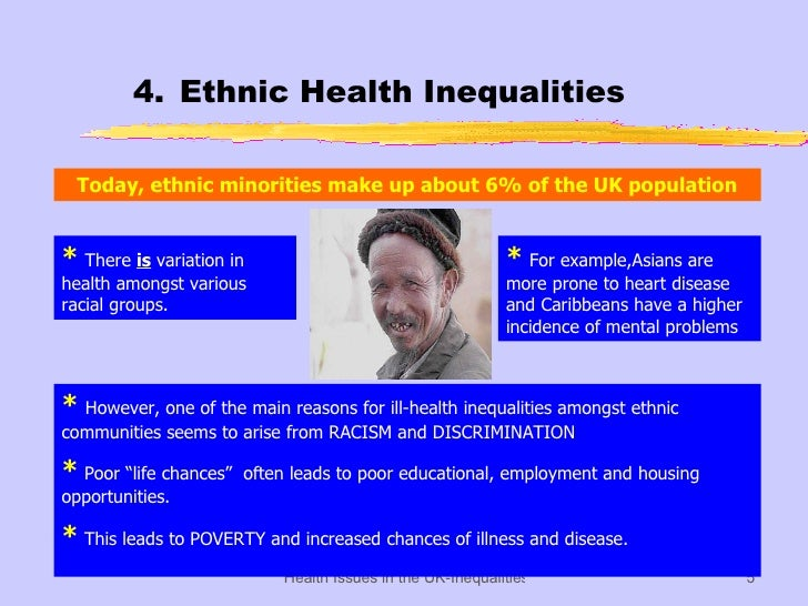 inequalities of health in britain today essay 6 chapter 1: the growth of health inequalities in britain it is now firmly established that there are social and spatial inequalities in health in.