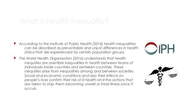 Health Inequalities Slide 2