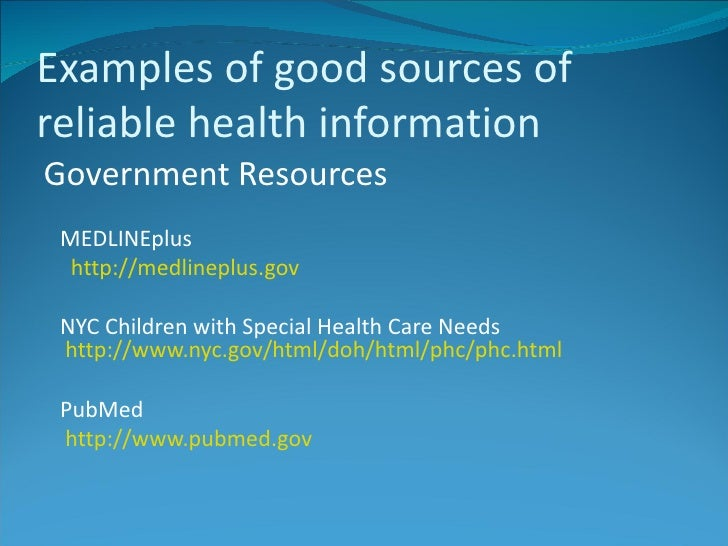 How to search for reliable health information on the Internet