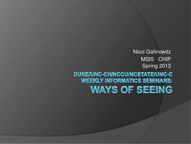 Nicci GafinowitzMSIS CHIPSpring 2013