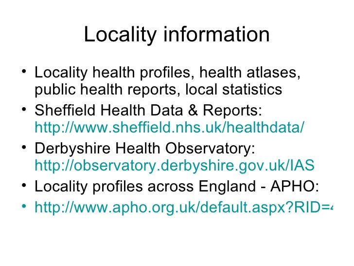 health demographics in derbyshire The data from the office for national statistics shows that for men in the south- east of england  health areas with lowest life expectancy are greater glasgow  and clyde (which has a  derbyshire county, 823, 19, 783, 22.