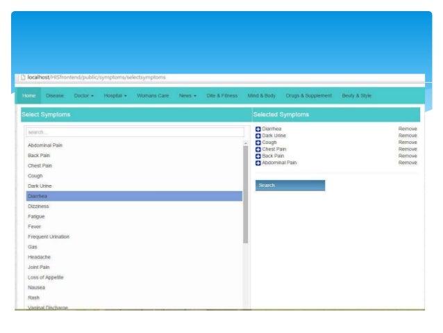 General Online Health Information System Proposed Application