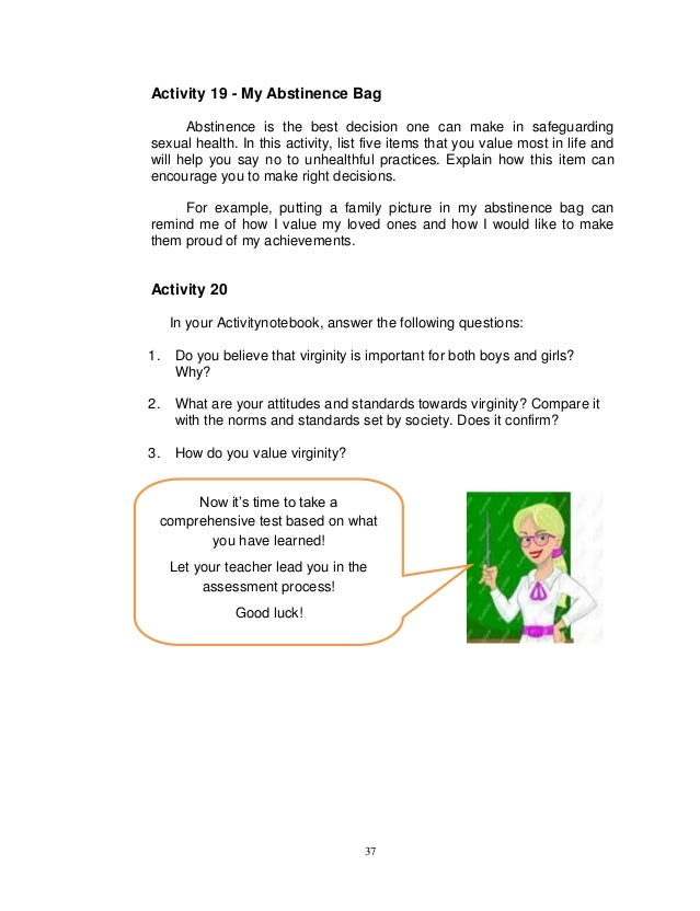 Printable Worksheets abstinence worksheets : module in grade 8 health