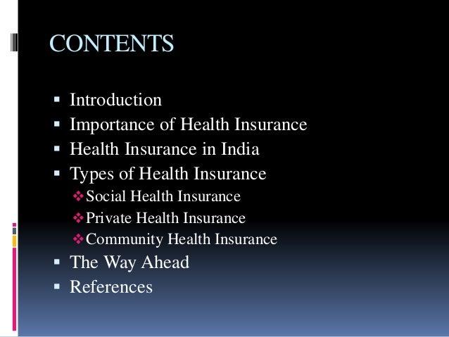 Health insurance Slide 2