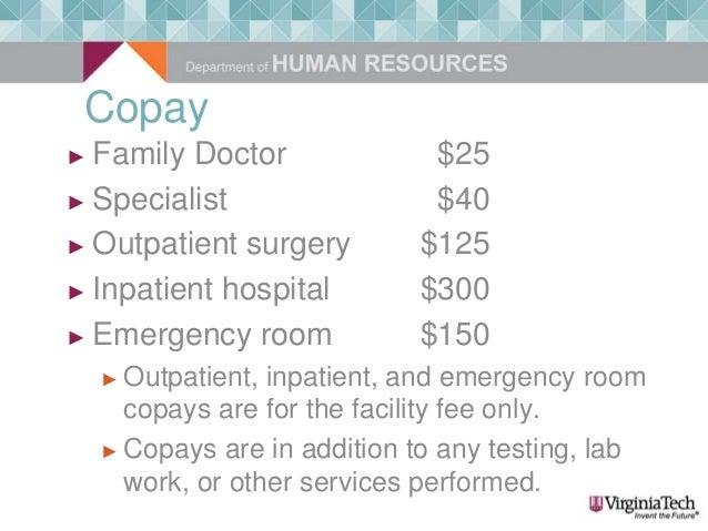 Emergency Room Copays